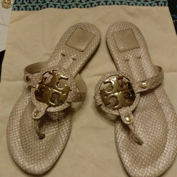 36bc60b546d Tory Burch Miller Metal Logo Sandals. M 5c10242134a4eff756dd65f1